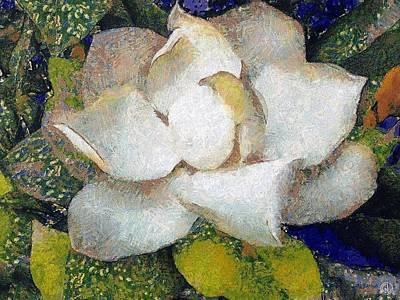 Van Gogh Digital Art - The White Flower by Gun Legler