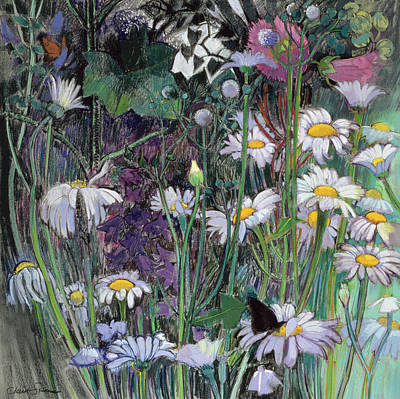 Forest Floor Painting - The White Garden by Claire Spencer