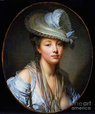 1780 Painting - The White Hat by Pg Reproductions
