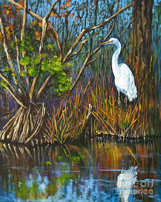 The White Heron Art Print by Dianne Parks