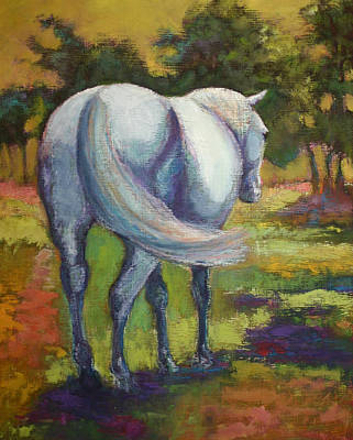 Painting - The White Horse by Carol Jo Smidt