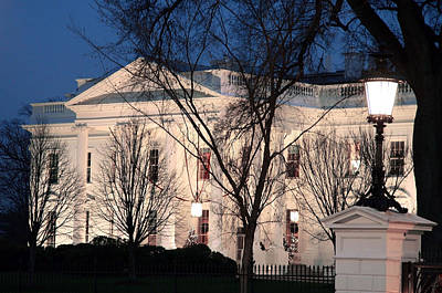 Art Print featuring the photograph The White House At Dusk by Cora Wandel