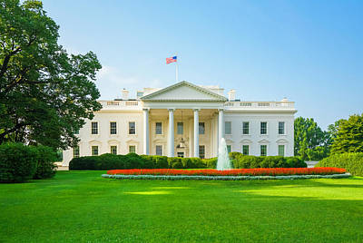 Photograph - The White House, Green Lawn, Blue Sky by Dszc