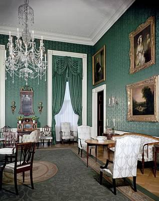 The White House Green Room Art Print by Tom Leonard