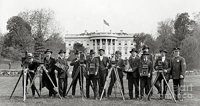 Whitehouse Wall Art - Photograph - The White House Photographers by Jon Neidert
