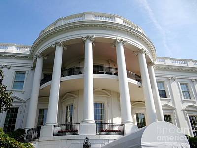 Photograph - The White House South Portico by Ed Weidman