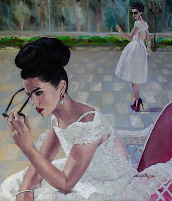 The White Lace Dress Art Print