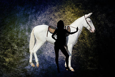 Manipulation Photograph - The White Mule by EricaMaxine  Price