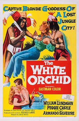 Torn Clothing Photograph - The White Orchid, Us Poster, Bottom by Everett