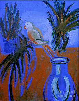 Painting - The White Parakeet by Genevieve Esson