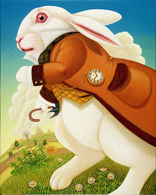 Anthropomorphic Painting - The White Rabbit, 2003 by Frances Broomfield