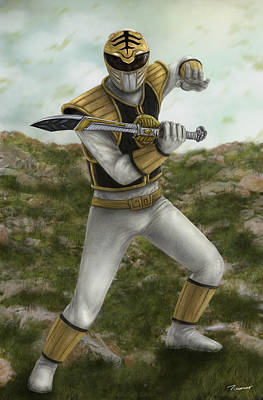 The White Ranger Art Print by Michael Tiscareno