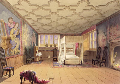 Cornish Wall Art - Drawing - The White Room, Cotehele House by English School