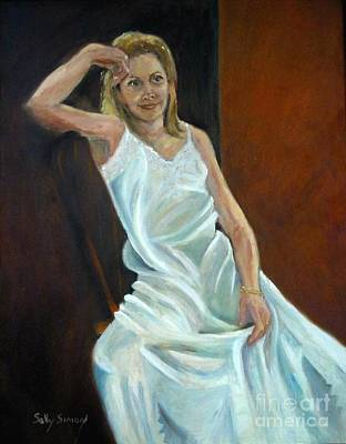 Painting - The White Slip by Sally Simon