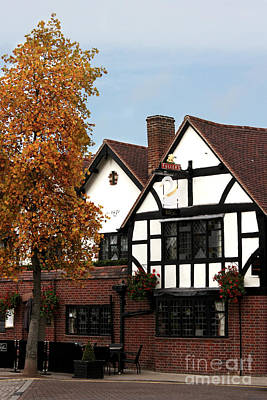 Photograph - The White Swan Stratford by Terri Waters
