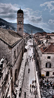 Photograph - The White Tower In The Stradun From The Ramparts by Weston Westmoreland