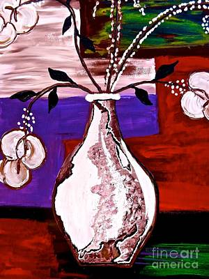 Painting - The White Vase by Saundra Myles