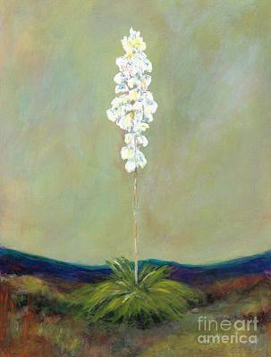 Desert Flower Painting - The White Yucca by Frances Marino