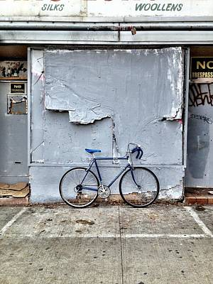 Cycling Wall Art - Photograph - the white zone is for Blue Meenie only  by Kreddible Trout