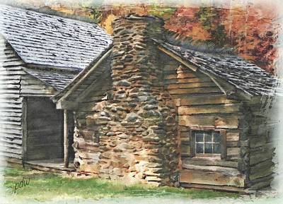 Grist Mill Mixed Media - The Whitehead Cabin Details by Philip White
