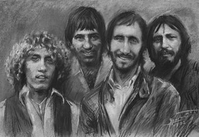Keith Moon Drawing - The Who by Viola El