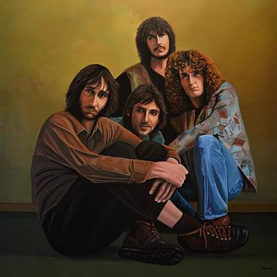Bassist Painting - The Who by Paul Meijering