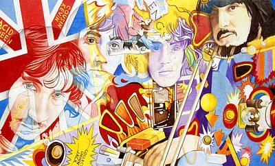 Icon Drawing - The Who-pinball Wizard by Joshua Morton