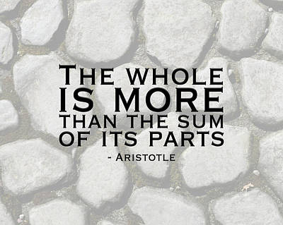 The Whole Is More Art Print by Tara Moss