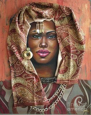 Painting - The Whole Story Behind Her Hazel Eyes by Alga Washington