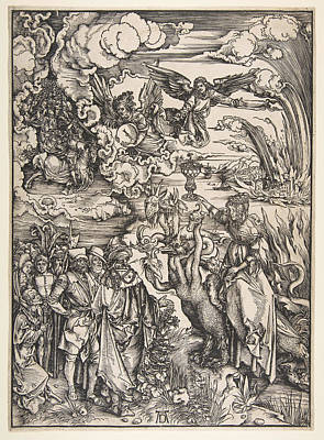 The Whore Of Babylon From The Apocalypse Art Print by Albrecht Duerer
