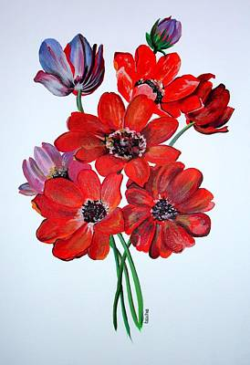 Painting - The Wild Anemone by Tracey Harrington-Simpson