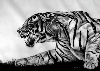 Contemporary Dog Art Drawing - The Wild by Bhushan Nayak