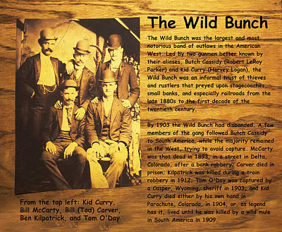 Western Digital Art - The Wild Bunch by Camillus S Fly