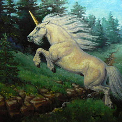 Kerry Nelson Painting - The Wild Heart by Kerry Nelson