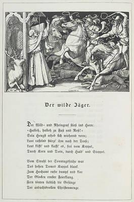 The Wild Huntsman Art Print by British Library