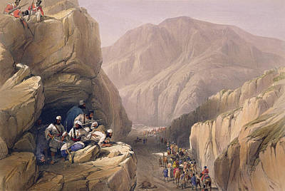 Soldiers Drawing - The Wild Pass Of Siri-kajoor by James Atkinson