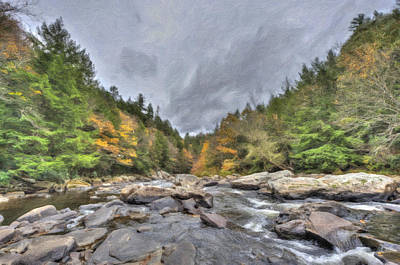 The Wild River Oil Painting Art Print
