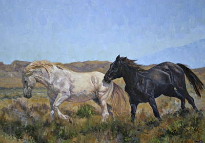 Painting - The Wild Run by Karen McLain