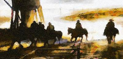 Digital Art - The Wild West by Carrie OBrien Sibley