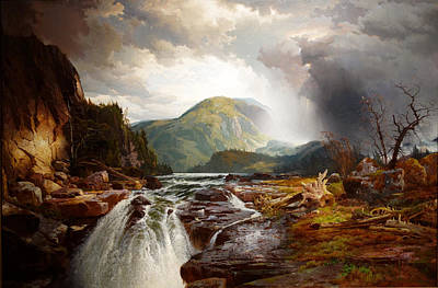 Field. Cloud Painting - The Wilds Of Lake Superior by Thomas Moran