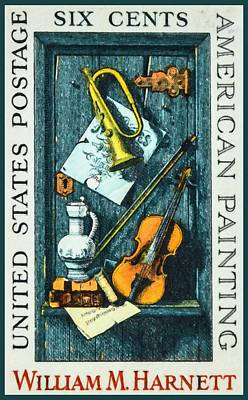 Old Pitcher Painting - The William M.harnett Stamp by Lanjee Chee