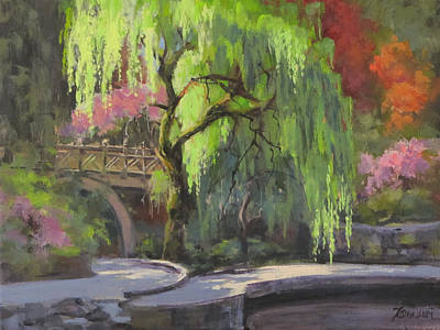 Painting - The Willow by Karen Ilari