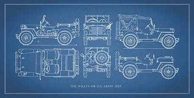 The Willys Jeep Art Print by Mark Rogan