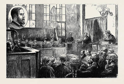Wimbledon Drawing - The Wimbledon Poisoning Case Trial Of Dr by English School