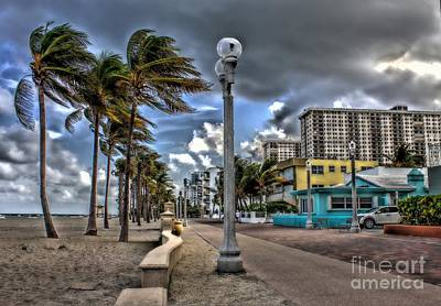 Photograph - The Wind At Hollywood Beach Fl by Ines Bolasini