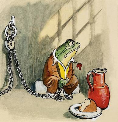 Painting - The Wind In The Willows Toad In Jail by Philip Mendoza