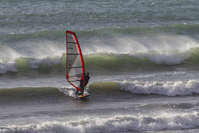 Photograph - The Wind Surfer by Brian Roscorla