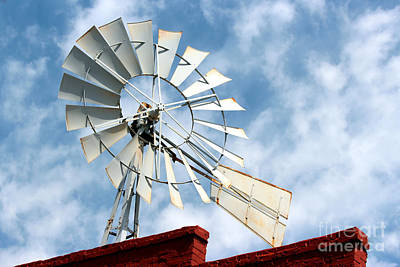 The Wind Wheel Art Print by Kathy  White