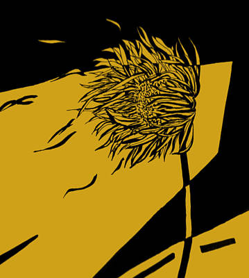 Sunflowers Drawings - The WInd by William Haley
