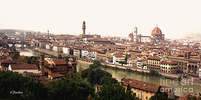 The Winding Arno Art Print by Linda  Parker